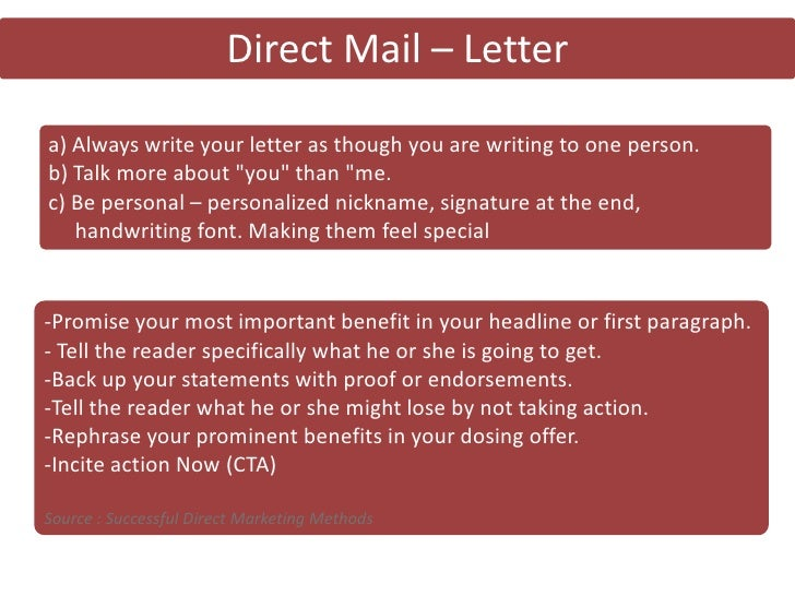Direct Comm Direct Mail Copywriting