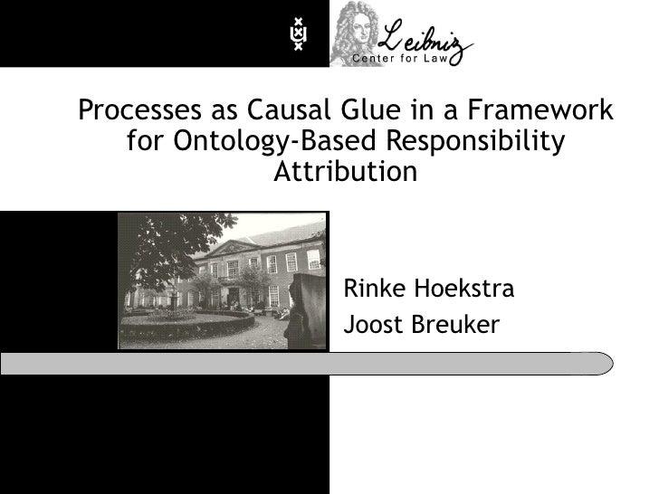 Processes as Causal Glue in a Framework for Ontology-Based Responsibility Attribution Rinke Hoekstra Joost Breuker