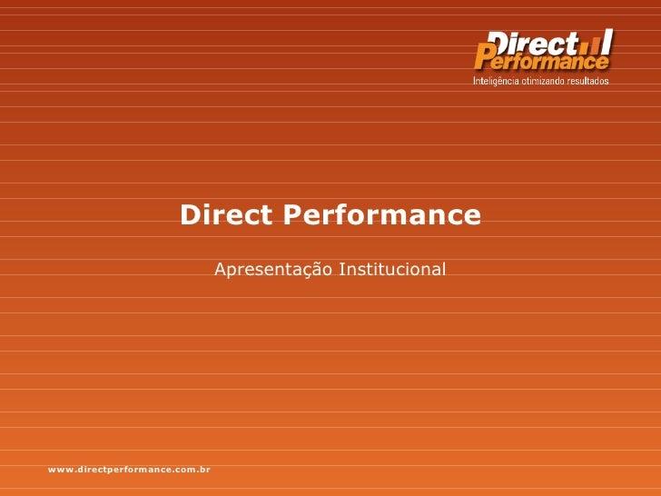 Direct Performance Apresentação Institucional