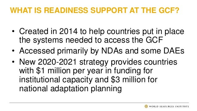 DIRECT ACCESS ENTITIES & ACCESS TO READINESS SUPPORT