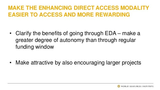Supporting Direct Access at the Green Climate Fund