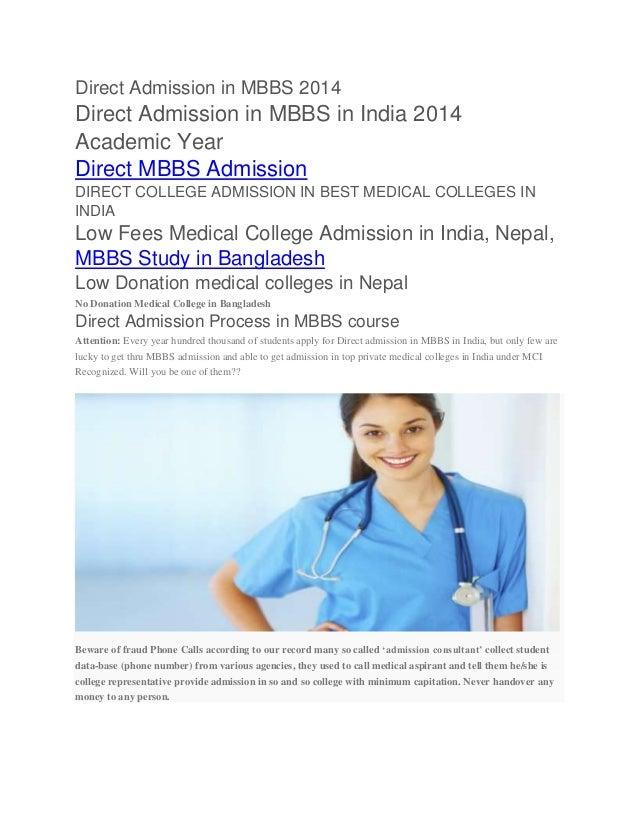 Direct Admission in MBBS 2014 Direct Admission in MBBS in India 2014 Academic Year Direct MBBS Admission DIRECT COLLEGE AD...