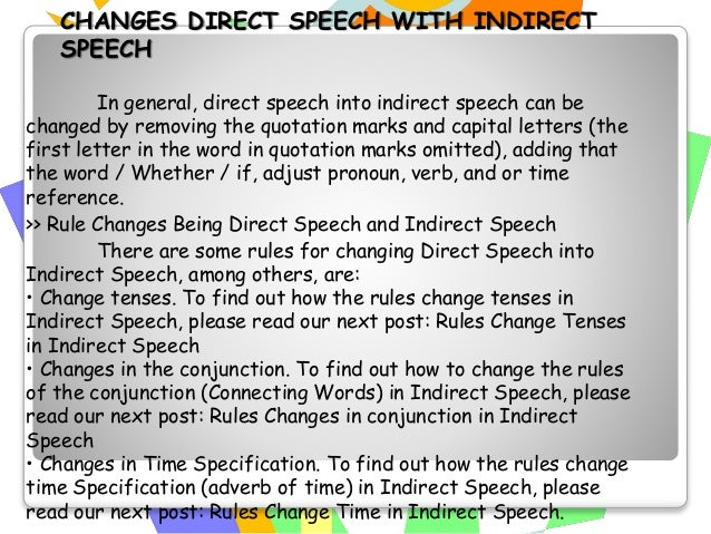 """Sentences Direct Speech Indirect Speech Explanation Statement """"I like eating out,"""" said Vina. Vina said that she liked eat..."""