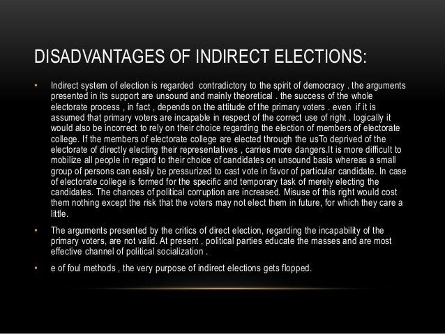 the limitations and weaknesses of elections This description, based on electoral legitimacy, is partial from the  count more,  and make a louder sound, than two hundred with weak preferences  response  by reflecting on a major limitation on the majority principle.