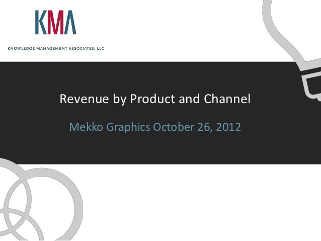 Revenue by Product and Channel Mekko Graphics October 26, 2012