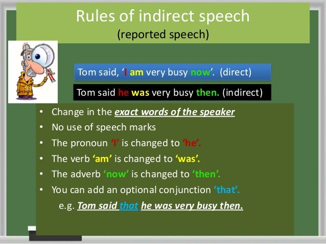 direct speech and indirect speech rules pdf