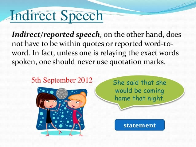 The Direct And Indirect Speech