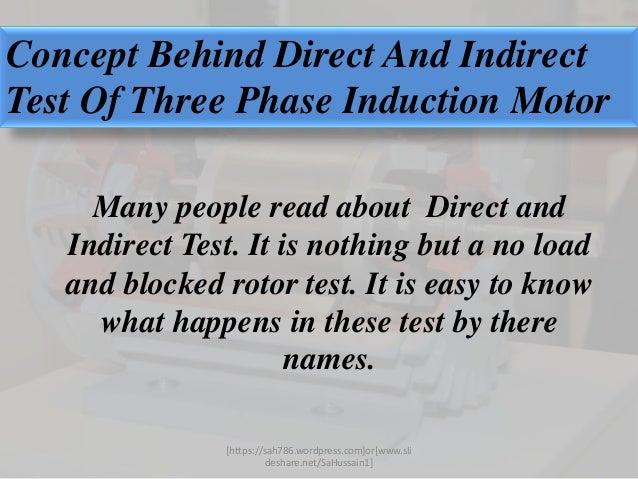 Motor test induction motor for Testing 3 phase motor