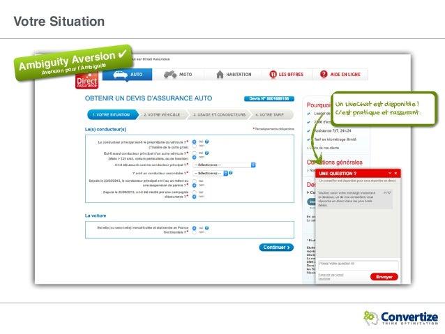 Votre Situation Un LiveChat est disponible ! C'est pratique et rassurant. Ambiguity Aversion ✔ Aversion pour l'Ambiguité