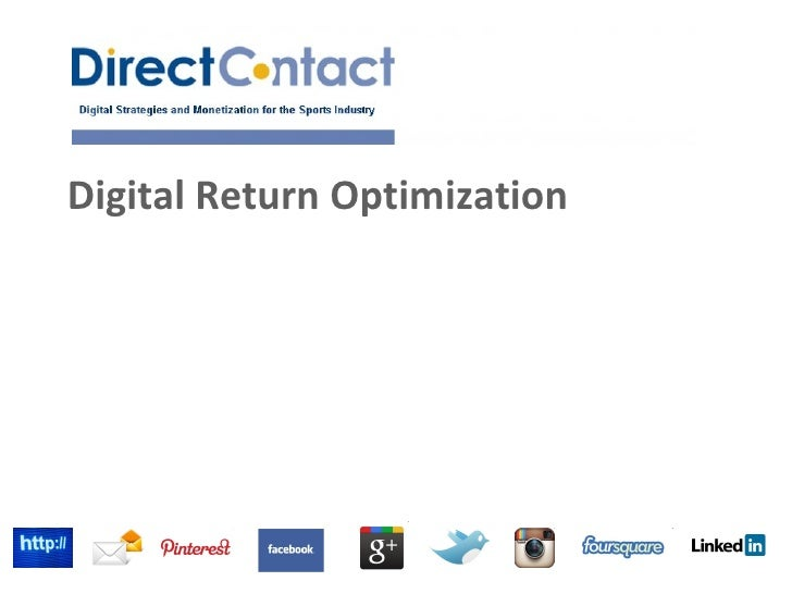 Digital Return Optimization