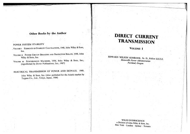 Direct current transmission pdf kimbark ew