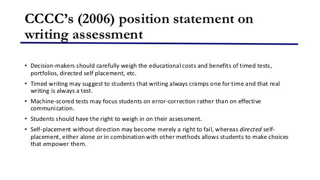 cccc position statement writing assessment