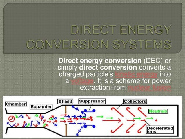 Direct energy conservation system