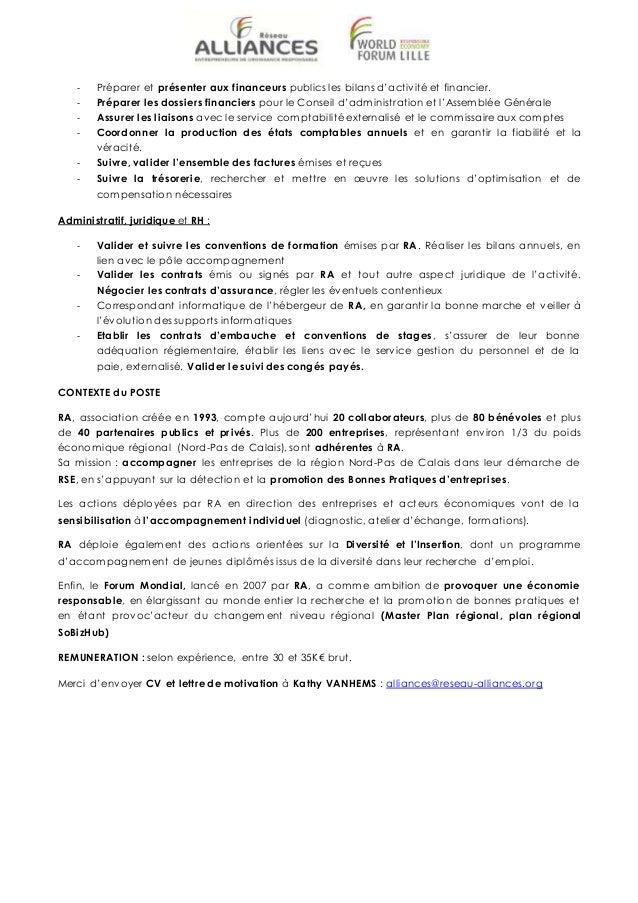 Cdi Reseau Alliances Directeur Administratif Et Financier