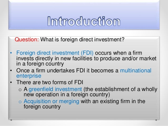 foreign direct investment by cemex Busn 427 week 3 assignment answer in the foreign direct investment by cemex talks about that cemex is rising to global status cemex is the world's third largest cement company in the world and mexico's largest multinational company.