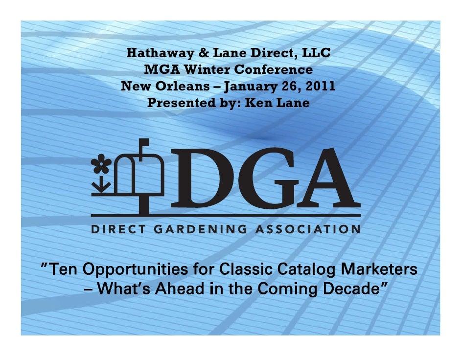 Hathaway U0026 Lane Direct, LLC MGA Winter Conference New Orleans U2013 January ...