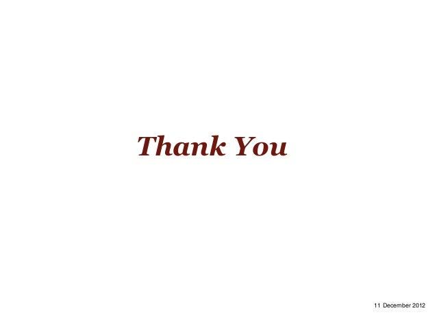 Thank You            11 December 2012