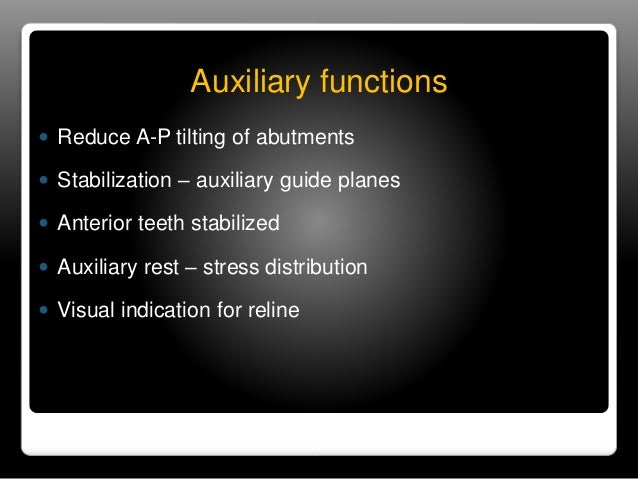 Auxiliary Occlusal Rest