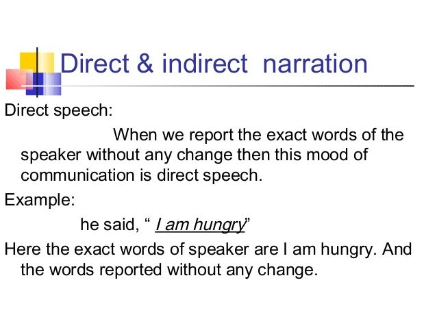 Direct and Indirect Speech Slide 2