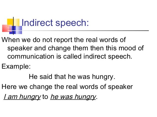 Direct and Indirect Speech Slide 3