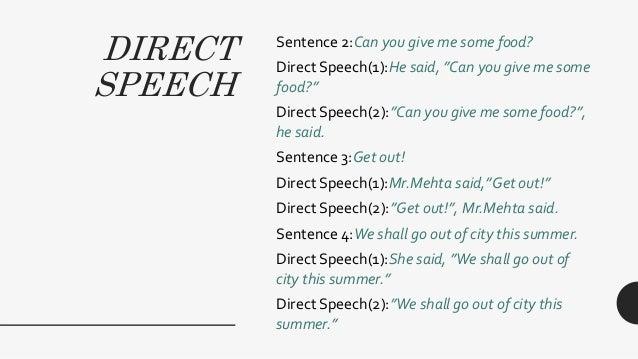 Direct & indirect speech Slide 3