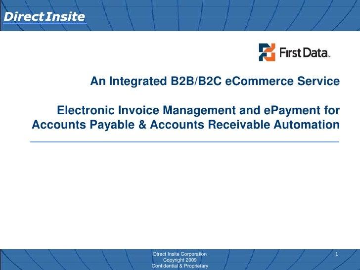 Direct Insite First Data An Integrated B2 B B2 C E