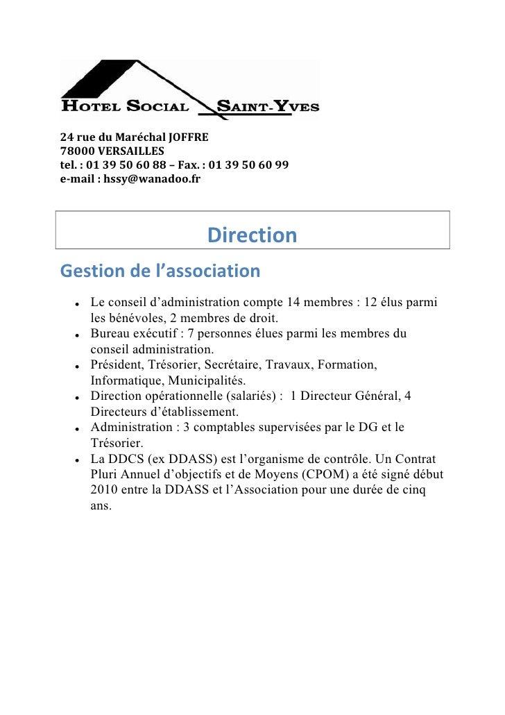 24 rue du Maréchal JOFFRE78000 VERSAILLEStel. : 01 39 50 60 88 – Fax. : 01 39 50 60 99e-mail : hssy@wanadoo.fr            ...