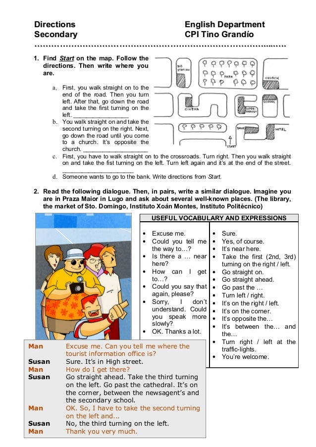 DDirectionsirections English DepartmentEnglish Department SecondarySecondary CPI Tino GrandíoCPI Tino Grandío ………………………………...