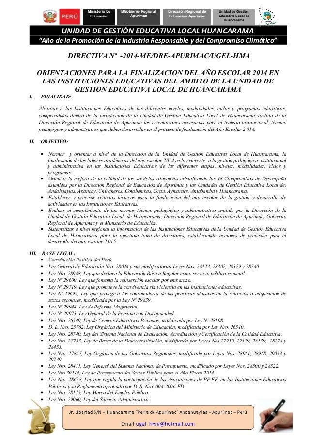 Ministerio De Educación BGobierno Regional Apurímac Dirección Regional de Educación Apurímac Unidad de Gestión Educativa L...