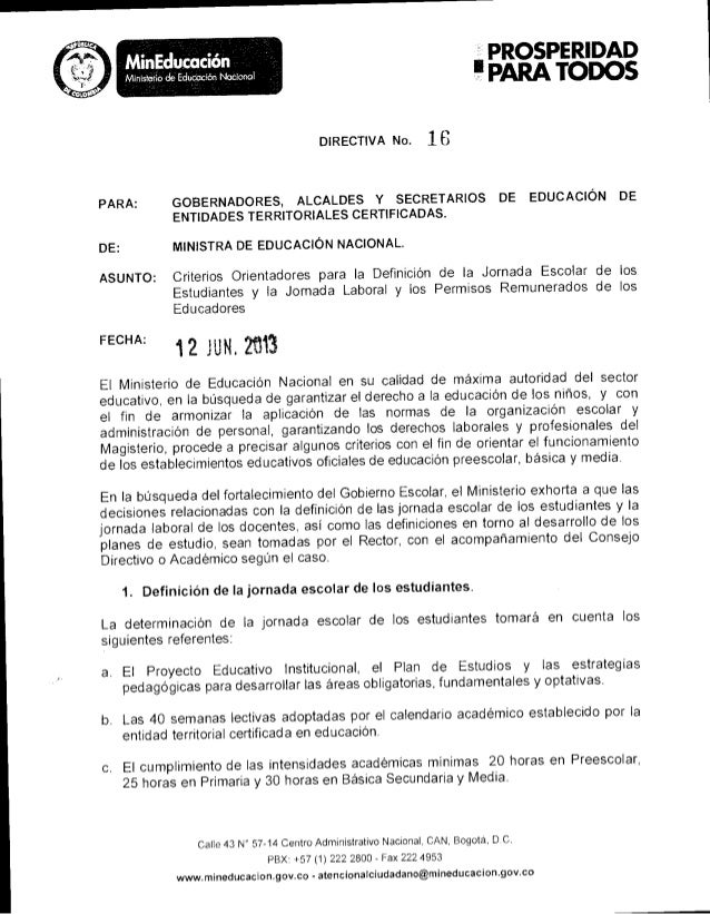 Directiva ministerial no.16
