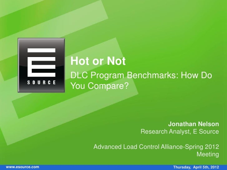 Hot or Not                  DLC Program Benchmarks: How Do                  You Compare?                                  ...