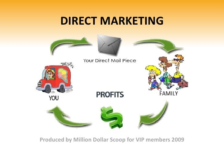 DIRECT MARKETING<br />Produced by Million Dollar Scoop for VIP members 2009<br />