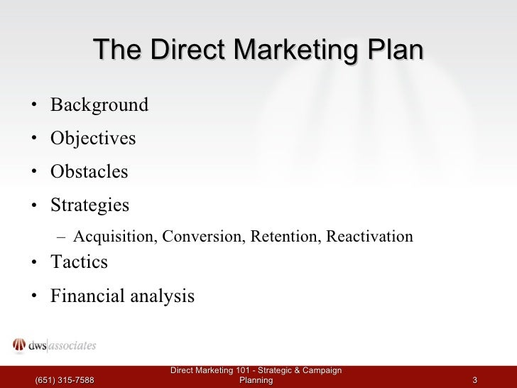 Direct Marketing 101: Workshop 2