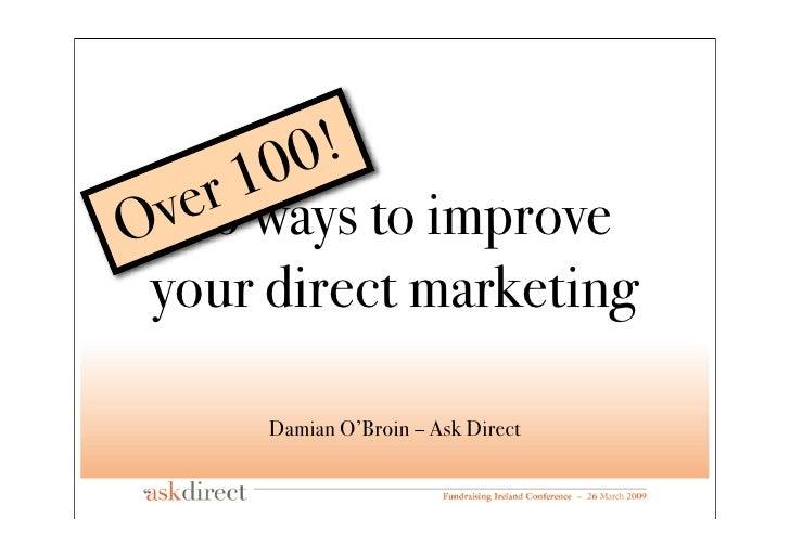 0!         0      r1    e   v66 ways to improve O  your direct marketing        Damian O'Broin – Ask Direct