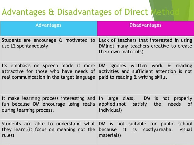 what is direct method of teaching english