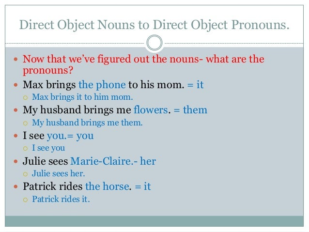 Direct objects and indirect objects in spanish