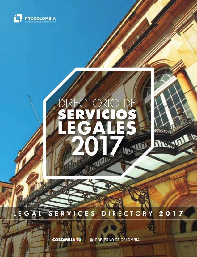1 L E G A L S E R V I C E S D I R E C T O R Y 2 0 1 7 L ibertad y Orden DIRECTORIO DE SERVICIOS LEGALES 2017