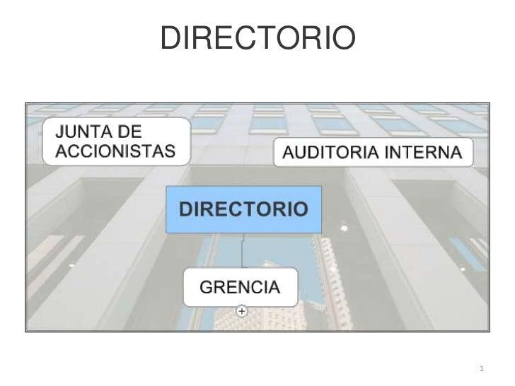 DIRECTORIO<br />1<br />