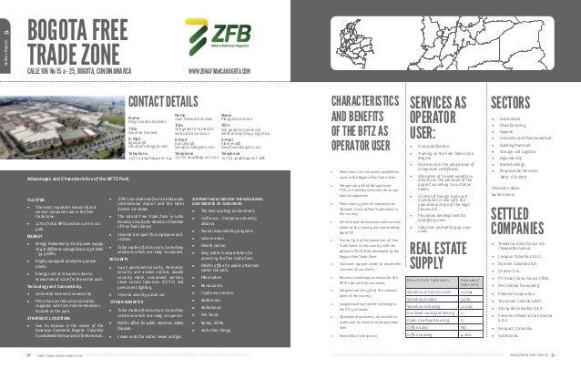 Directorio zonas francas colombia for Oficinas dhl colombia