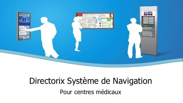 Directorix Système de Navigation Pour centres médicaux