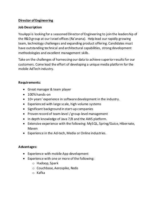 youappi director of engineering job notice