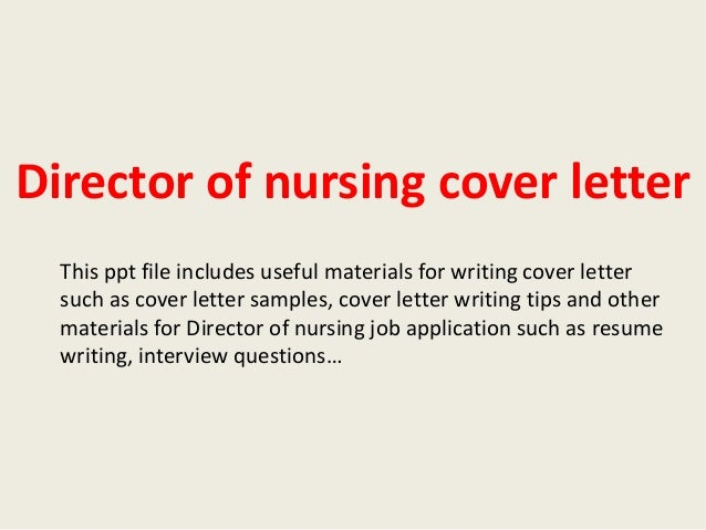 writing a nursing cover letters