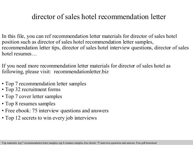 Director of sales hotel recommendation letter 1 638gcb1409081238 director of sales hotel recommendation letter in this file you can ref recommendation letter materials spiritdancerdesigns Gallery