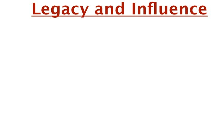 Legacy and Influence