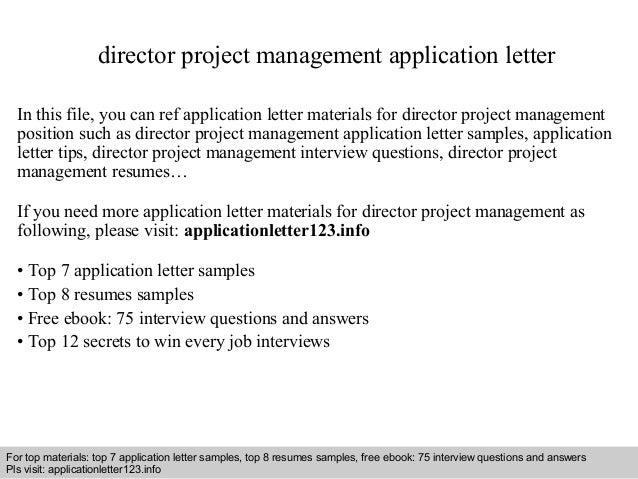 Director project management application letter director project management application letter in this file you can ref application letter materials for thecheapjerseys Gallery