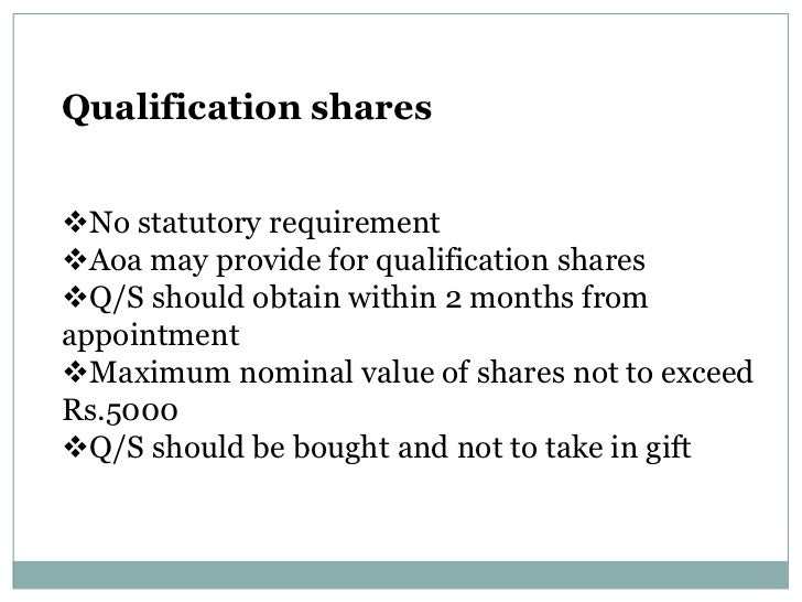 qualification shares