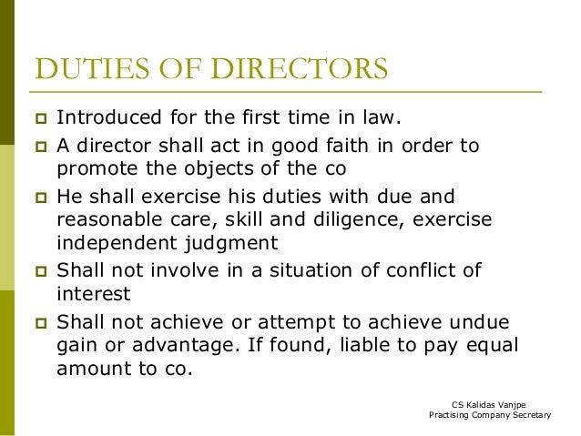 duties of directors in company law