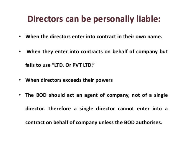 10 Personal Liability Pitfalls For Directors And Officers