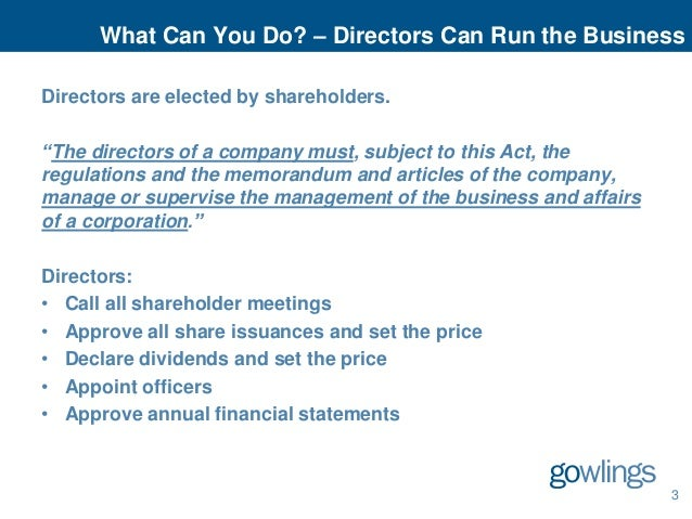 powers and duties of directors of a company