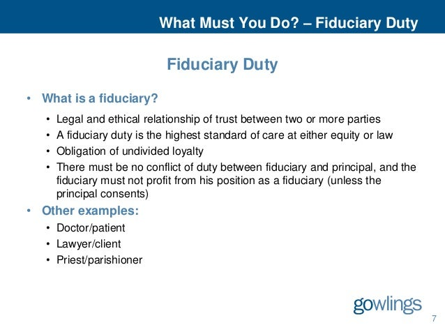 Fiduciary Duty: Duty of Care and Duty of Loyalty